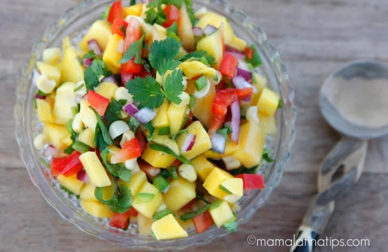 Receta de salsa de mango - mamalatinatips.com
