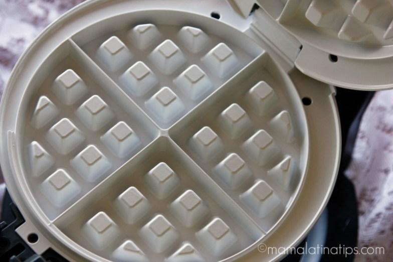 Ceramic interior of cooks waffle maker - mamalatinatips.com