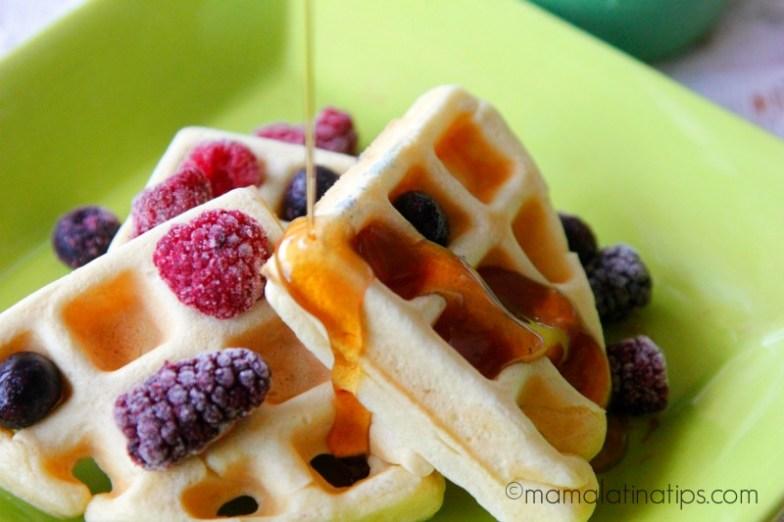 Waffles by mamalatinatips.com