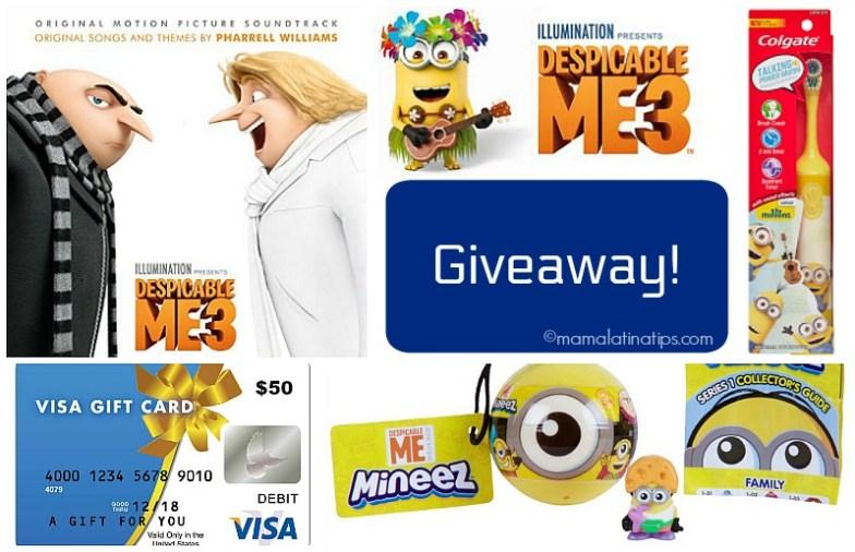 Despicable Me 3 Giveaway - mamalatinatips.com