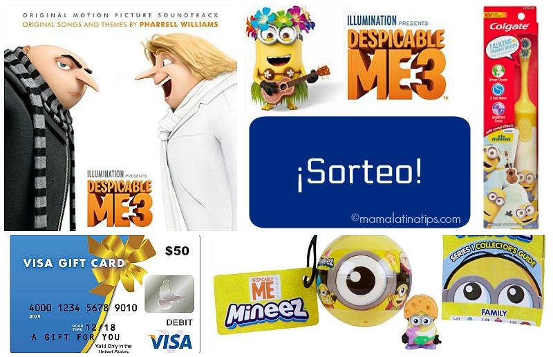 Sorteo de Despicable Me 3 con Tarjeta Visa de $50