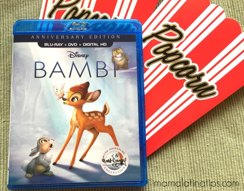 movie night with Bambi - mamalatinatips.com