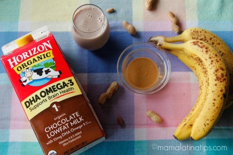 Banana-Peanut Butter Chocolate Milk, ingredients.