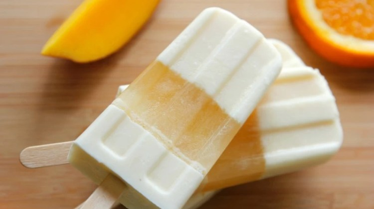Orange-Tangerine-Mango-Cream Ice Pops