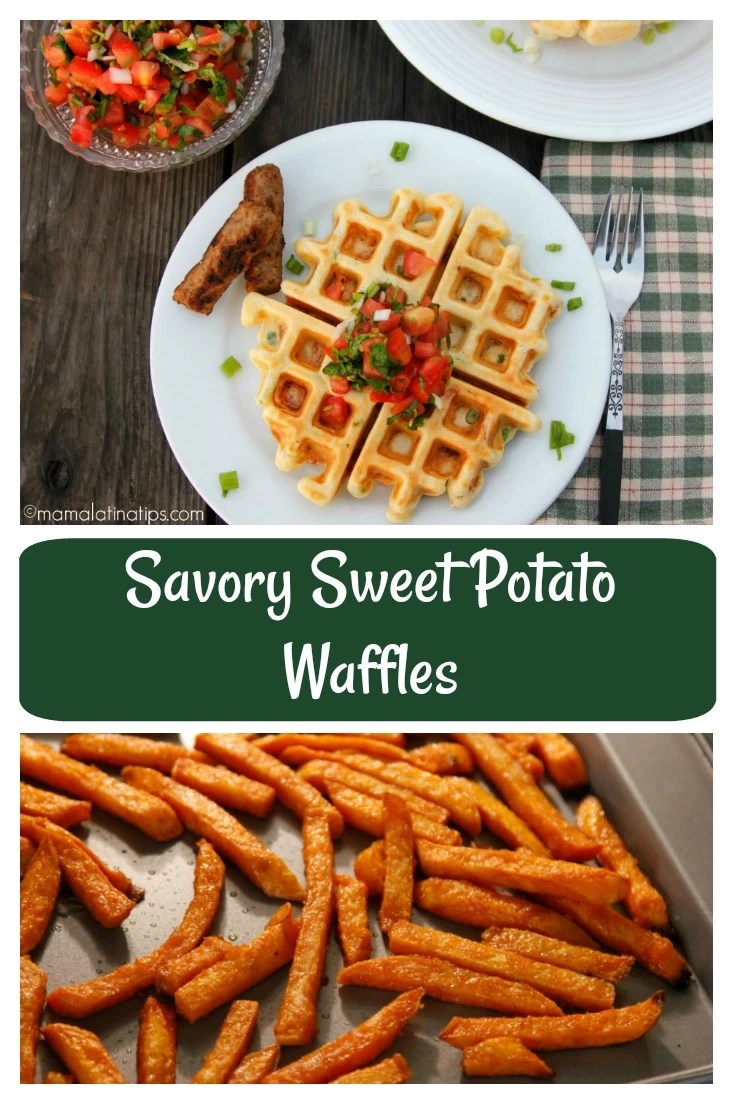 I love the convenience of using ingredients straight from my refrigerator and freezer. For this back to school season, I've created these very yummy, savory sweet potato waffles with Alexia Sweet Potato Fries and Land O Lakes Unsalted Butter. Try as a warm & satisfying after school snack. Or make them ahead of time, reheat them in the toaster, or toaster oven, and serve with a side of sausage for a fast and balanced breakfast.  #EasyHomeMeals @EasyHomeMeals #backtoschool #BTS @AlexiaFoods @LandOLakes @JimmyDean
