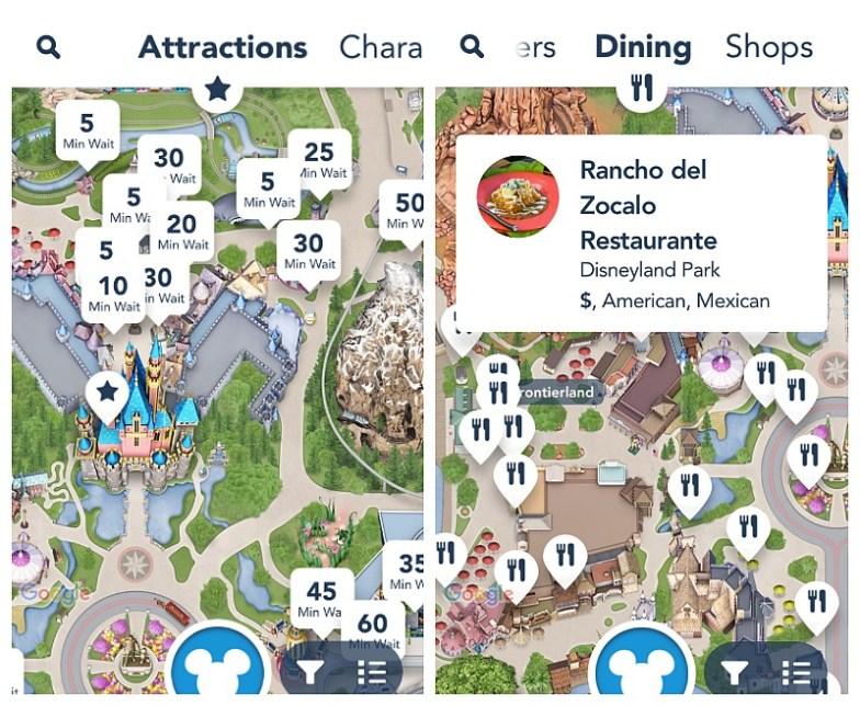 Baja la aplicación móbil de Disneylandia, te ahorrará tiempo y lo mejor es que es gratuita.