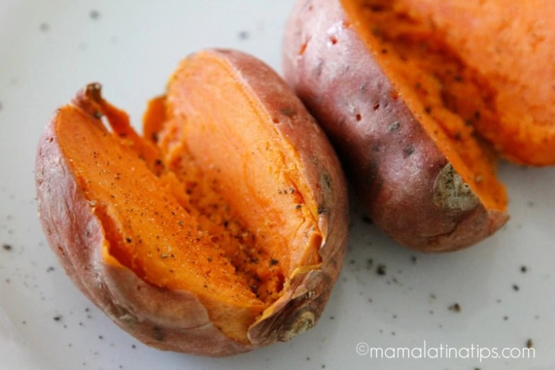 Camotes anaranjados asados - mamalatinatips.com