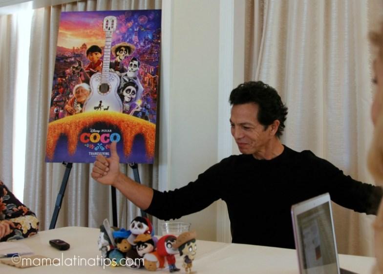 """Benjamin Bratt as Ernesto de la Cruz in Disney Pixar """"Coco"""" - mamalatinatips.com"""