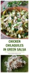 chicken chilaquiles in green salsa