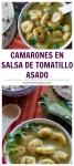Camarones en salsa de tomatillo asado