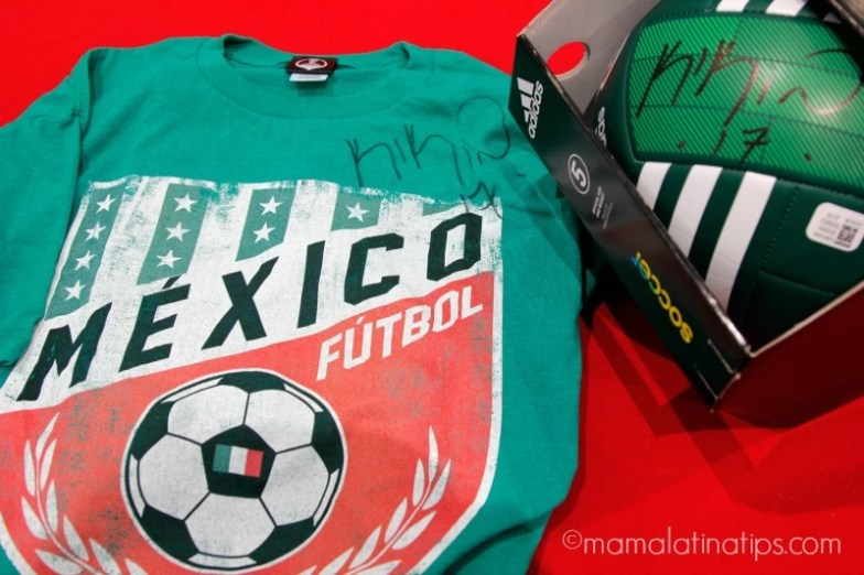 soccer ball and t-shirt giveaway