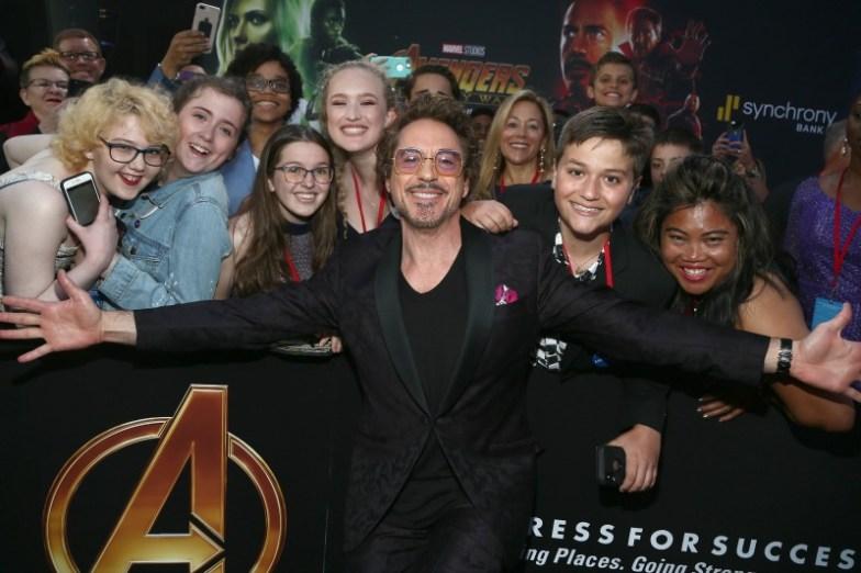 Robert Downey Jr. Avengers: Infinity War premiere