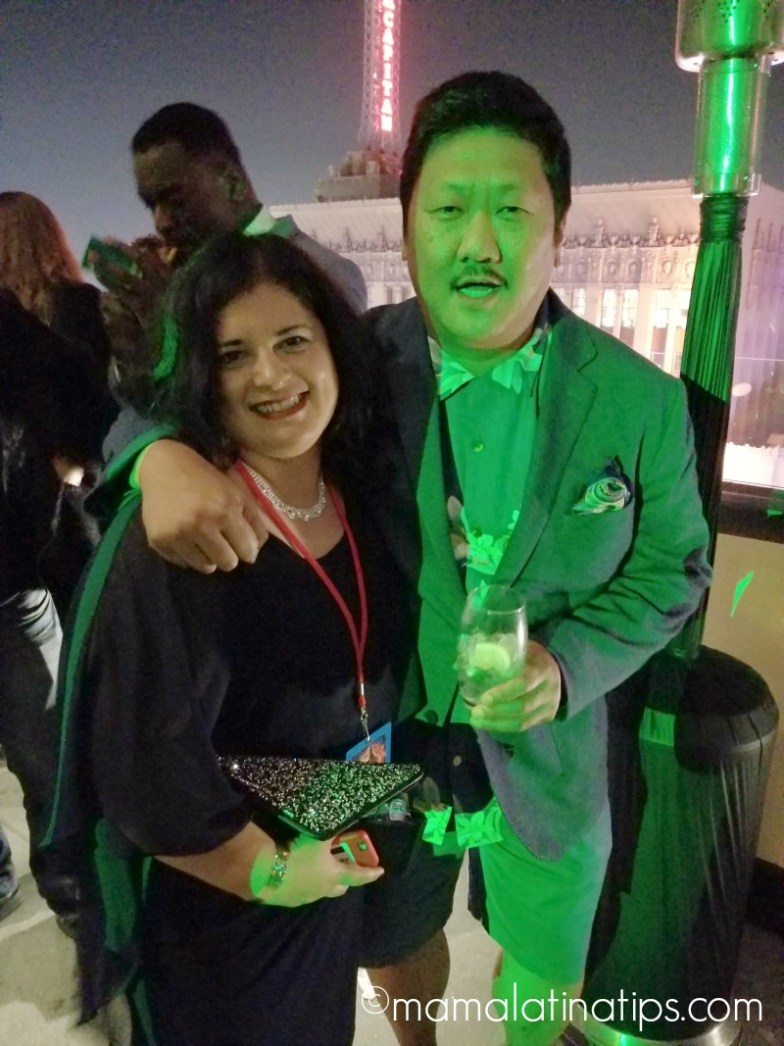 Benedict Wong and Silvia Martinez Avengers: Infinity War World Premier
