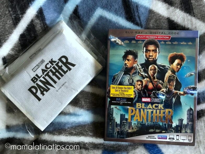Black Panther Blu-ray and Black Panther popcorn