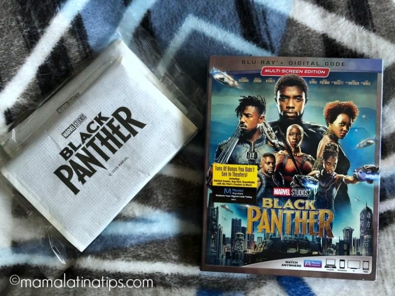Black Panther Blu-ray and Black Panther popcorn