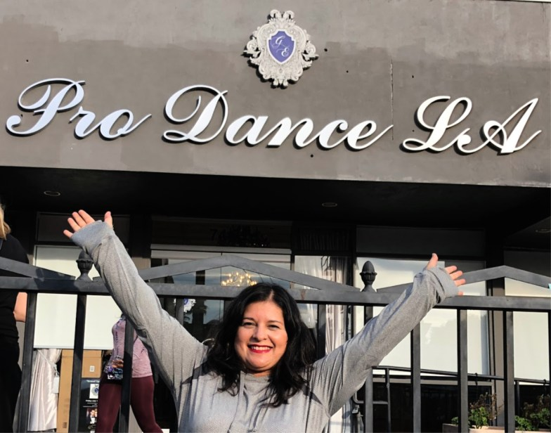 Silvia Martinez outside Pro Dance LA