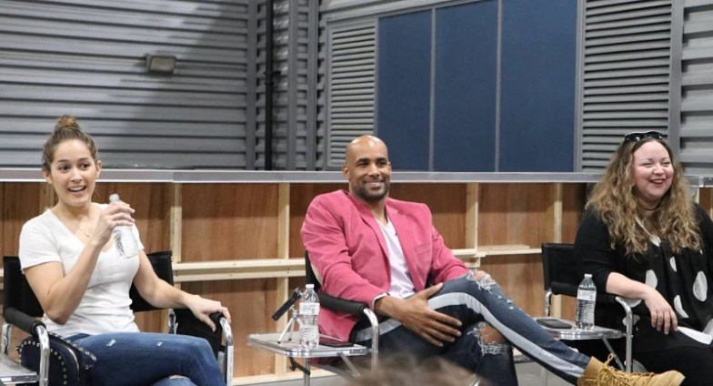"Showrunner & Executive Producer Stacy McKee, actress Jaina Lee Ortiz (""Andy Herrera"") and actor Boris Kodjoe (""Captain Robert Sullivan"")."
