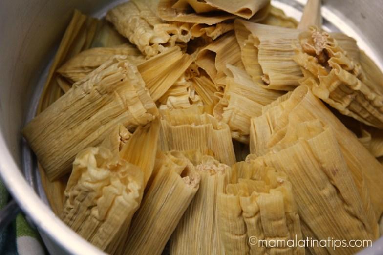 tamales en vaporera