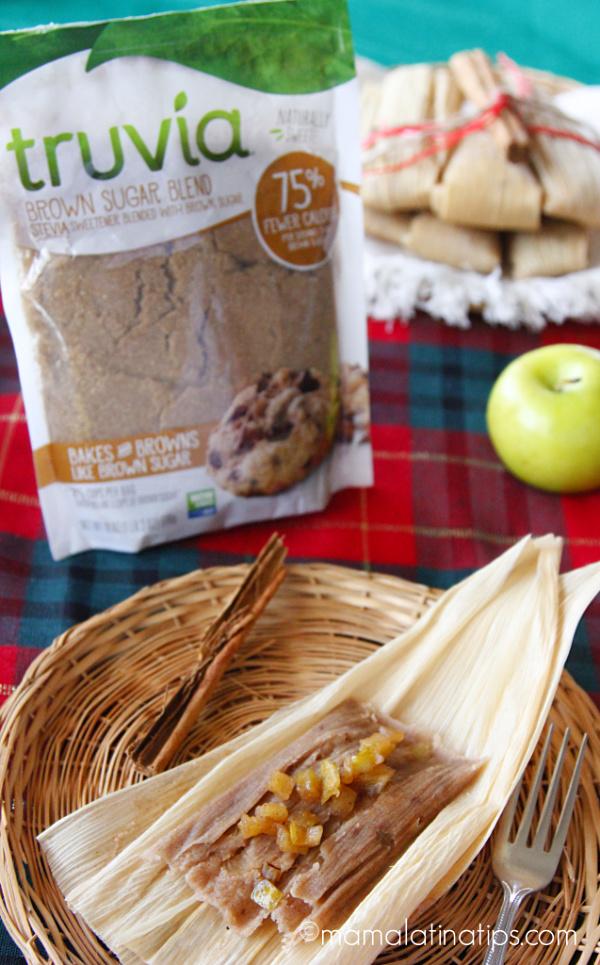 Truvia and apple cinnamon tamales