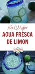 agua de limón pinterest