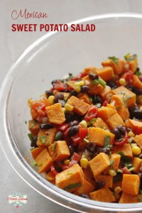mexican sweet potato salad with black beans