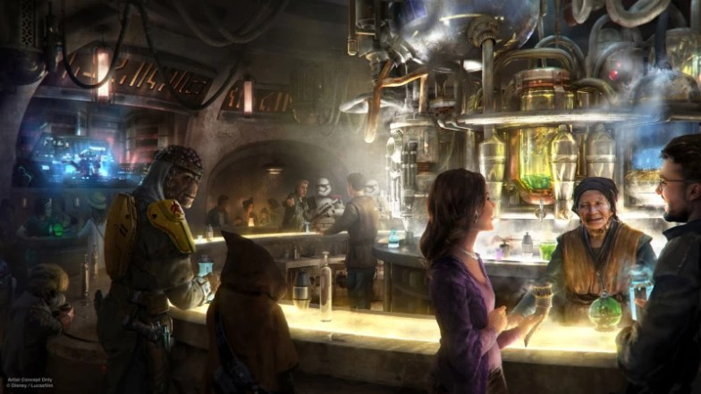 Creative Concept of Oga's Cantina at Star Wars Galaxy's Edge