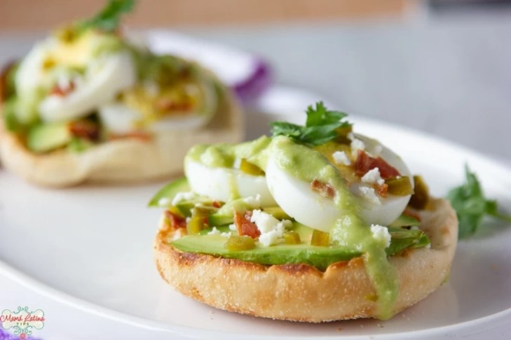 Spicy Hard-Boiled Egg and Avocado English Muffins
