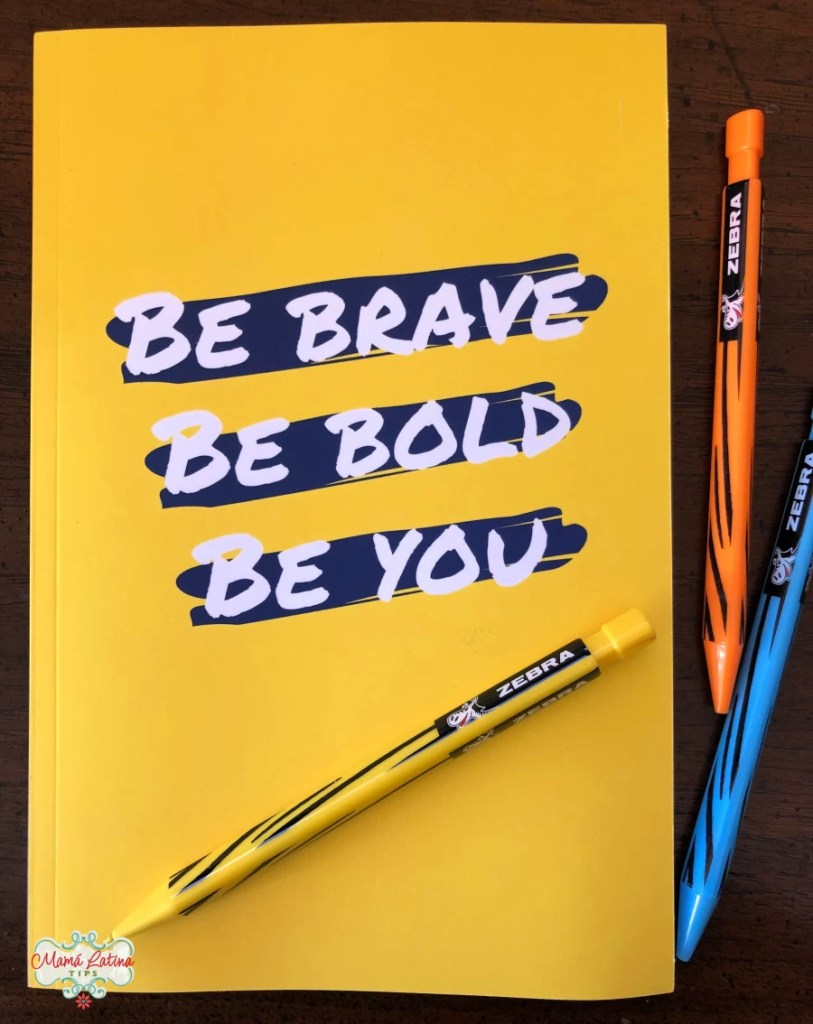 Planer que dice Be brave, Be bold, Be you