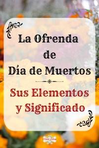 grafico de Elementos de la ofrenda de Día de Muertos y su significado