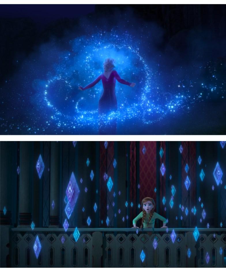 escenas de Frozen 2 de la magia de Elsa
