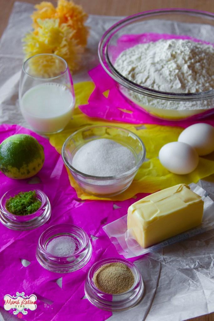 Ingredientes de pan de muerto