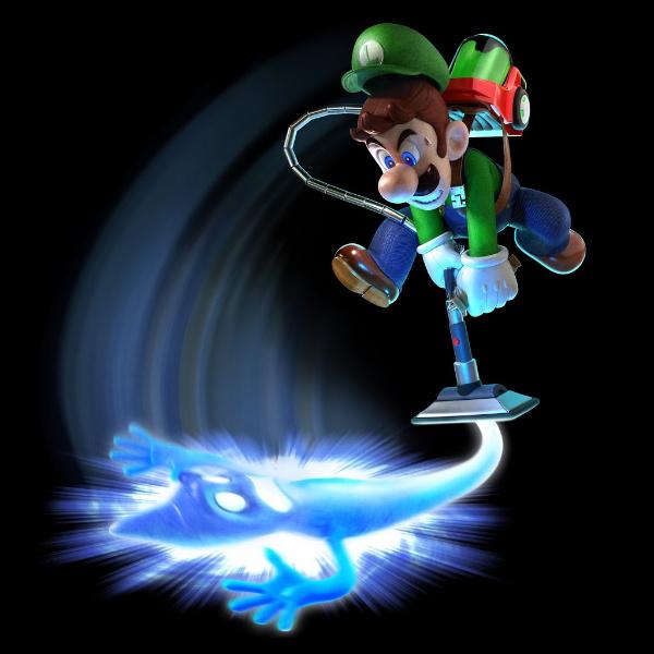 gráfico de Luigi con un fantasma
