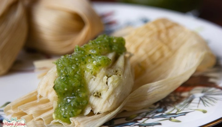 Green Tamales with Chicken