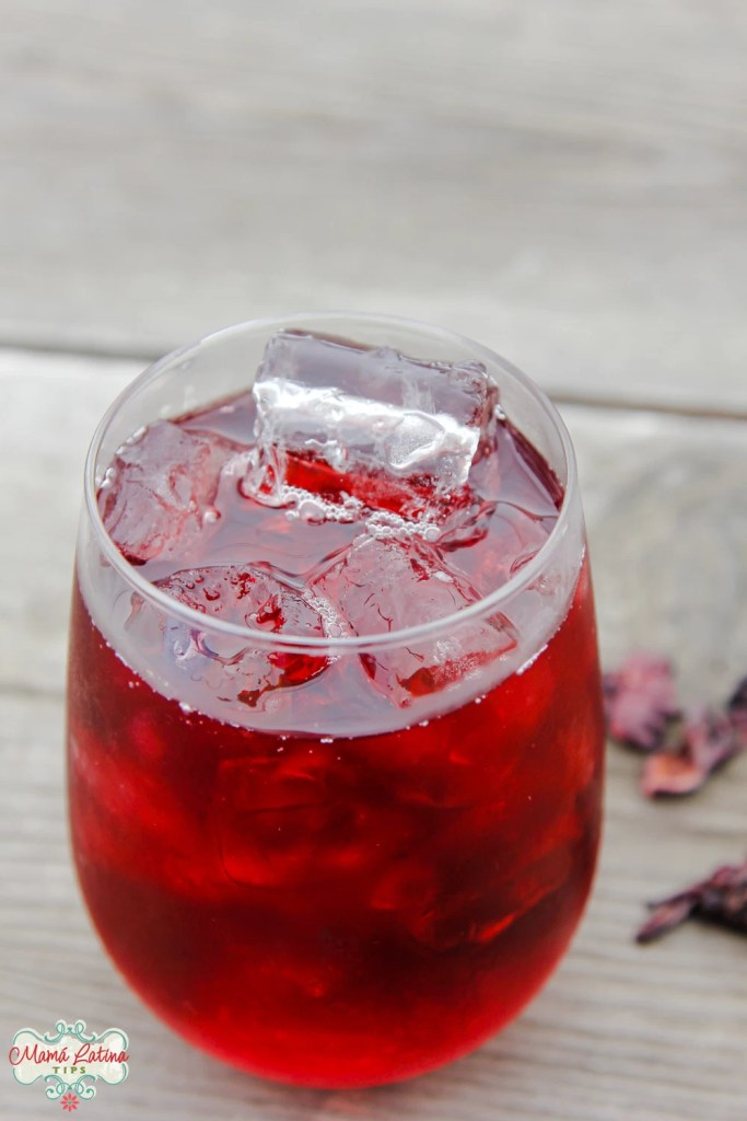 hibiscus tea - agua de jamaica in a glass