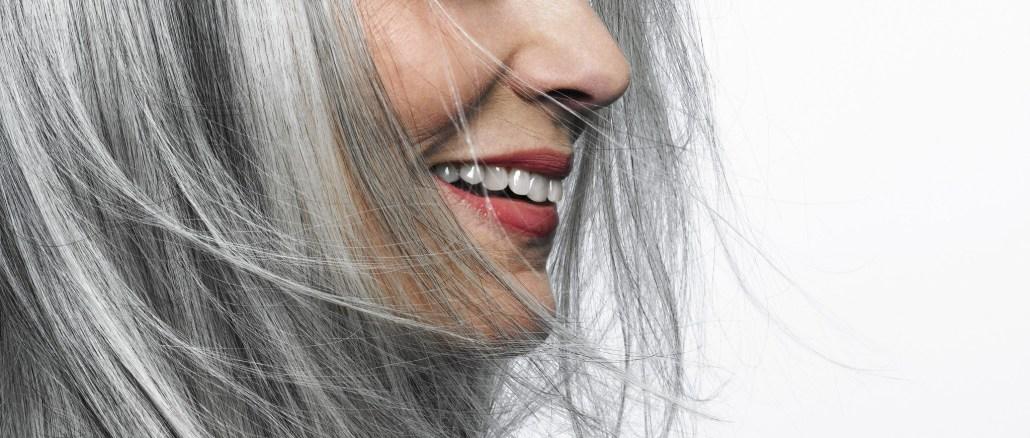 grey hair beautiful woman