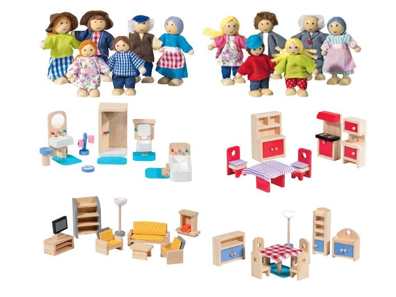 poppetjes voor houten poppenhuis