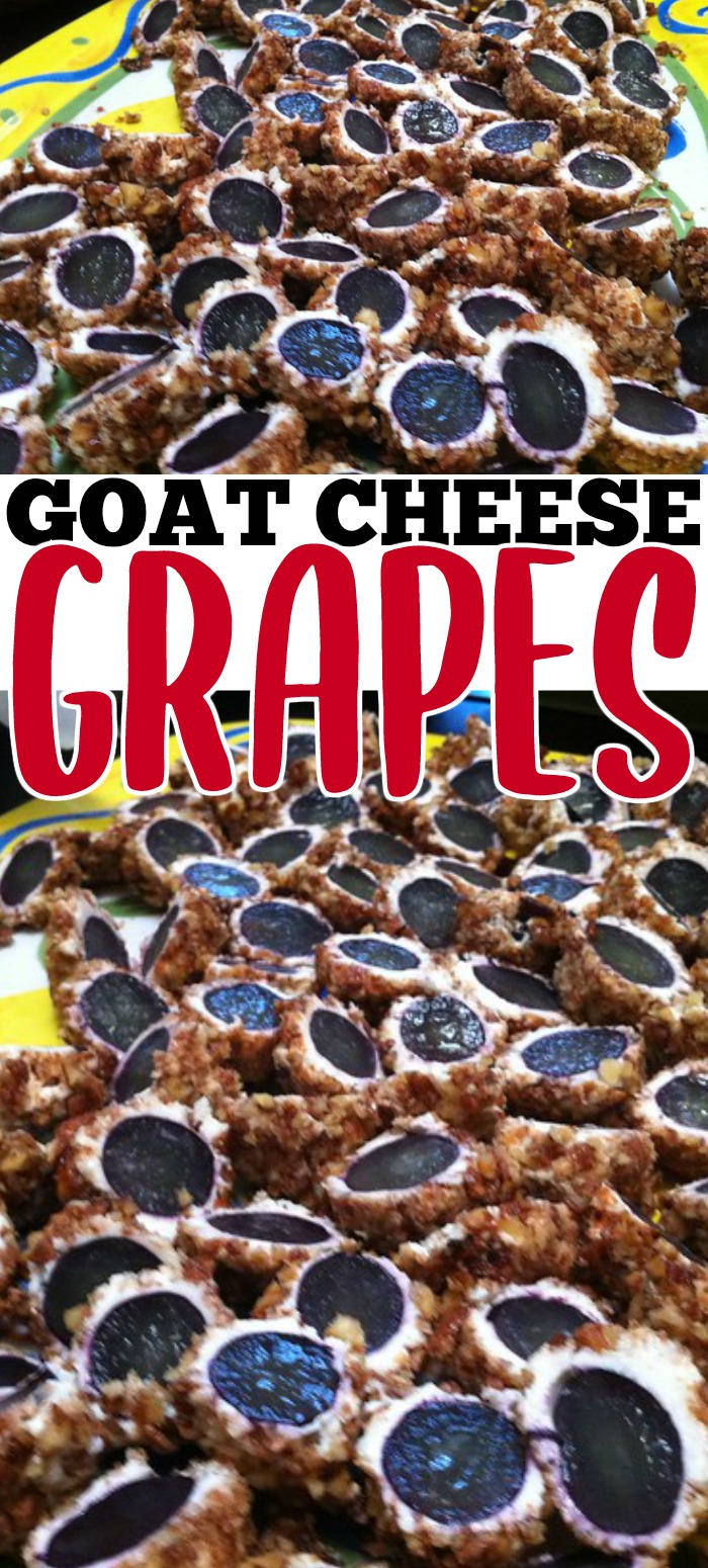 PRALINE AND GOAT CHEESE GRAPES