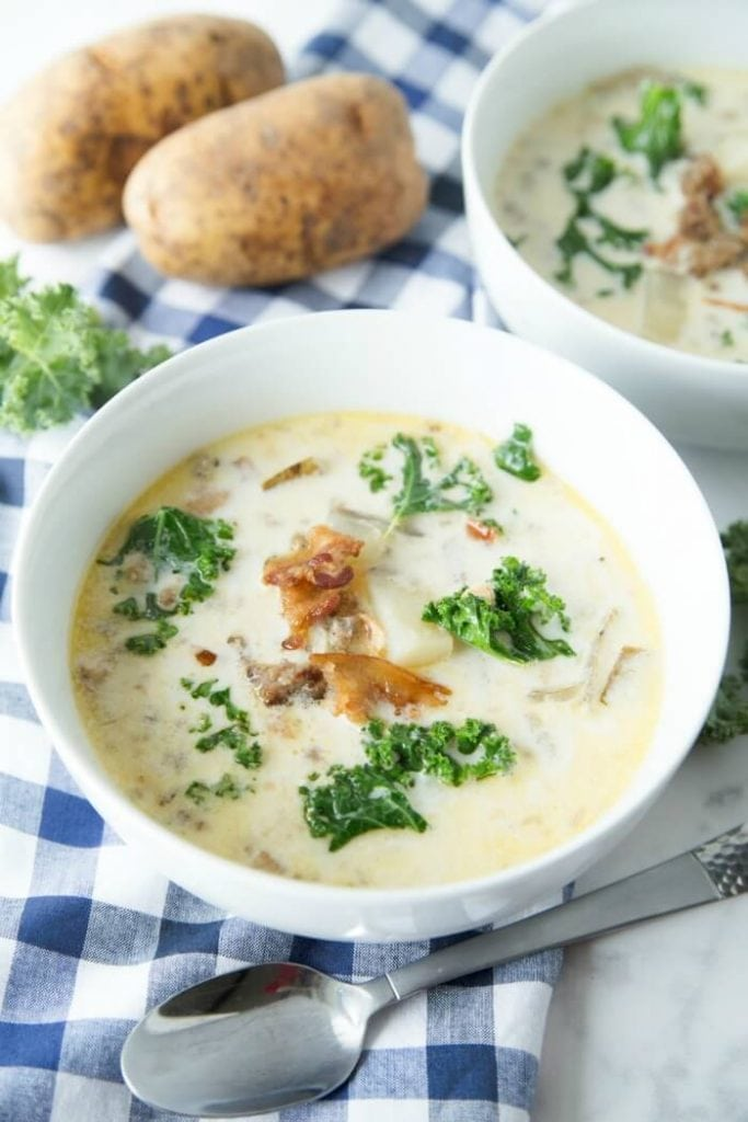 Kale Bacon Sausage and Potato Soup Recipe Zuppa Toscana