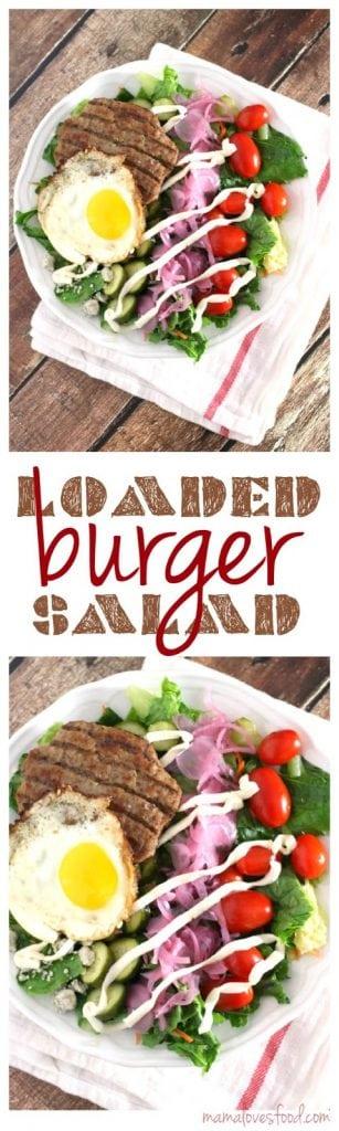 Loaded Hamburger Salad