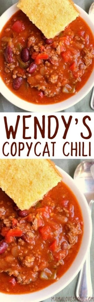 Easy Wendy's Chili Recipe
