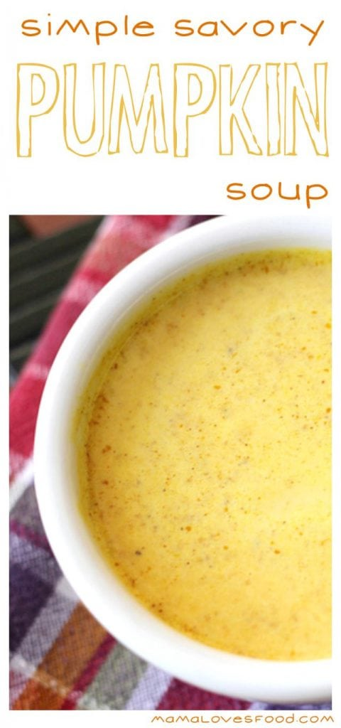 Simple Savory Pumpkin Soup Recipe