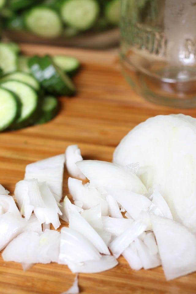 Spicy Garlic Dill Refrigerator Pickles