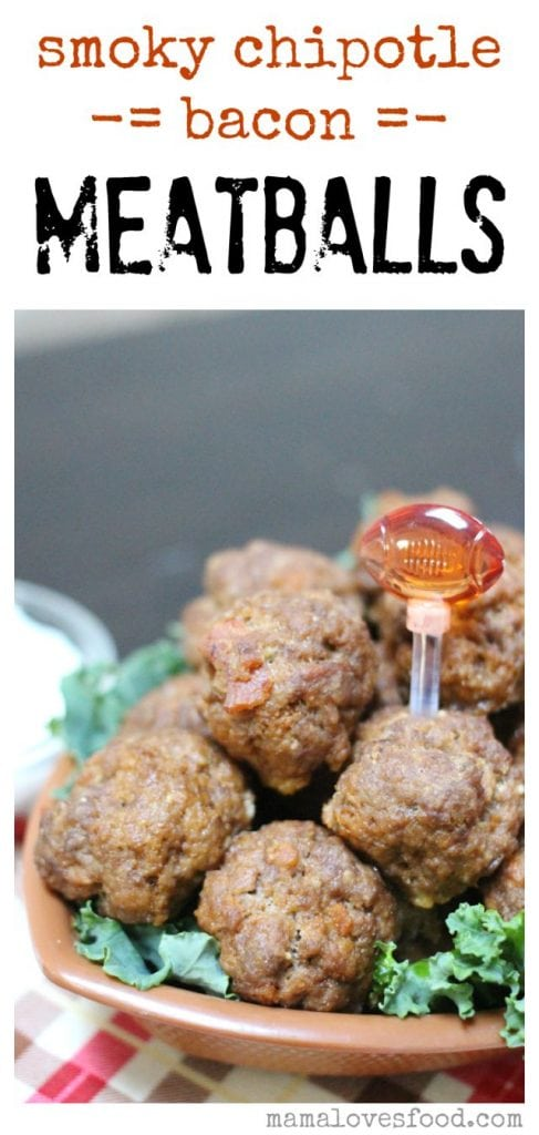 Smoky Chipotle Bacon Meatballs!