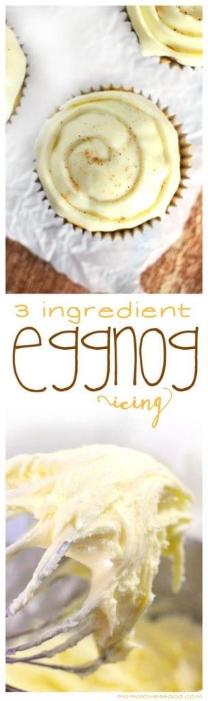 Three Ingredient Eggnog Icing Recipe