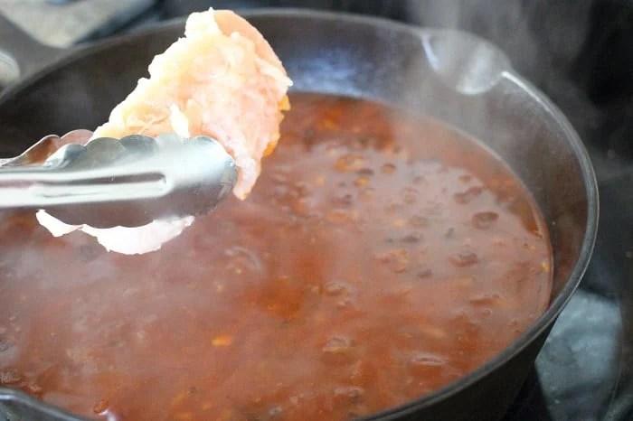 Chicken Pasta Puttanesca Soup