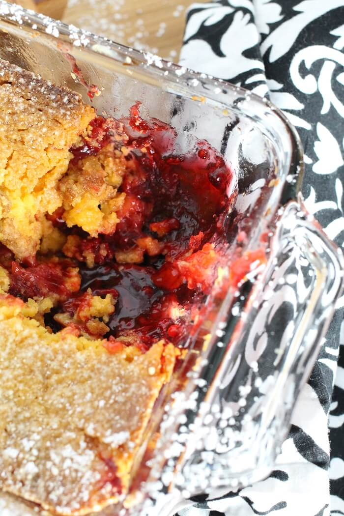 RASPBERRY COBBLER WITH PIE FILLING