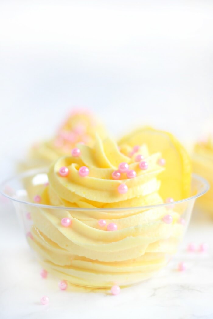 LEMON MOUSSE WITH SPRINKLES