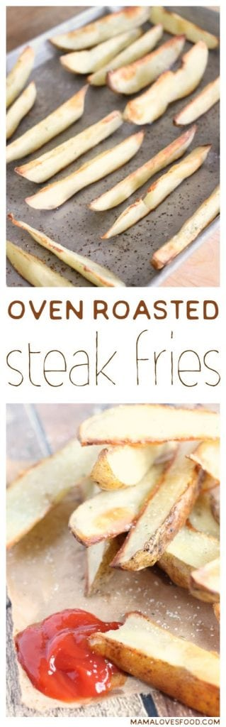 Oven Roasted Steak Fries Recipe
