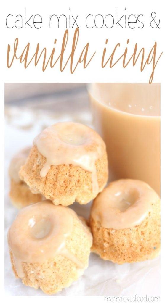 White Cake Cake Mix Cookies with Vanilla Glaze Recipe
