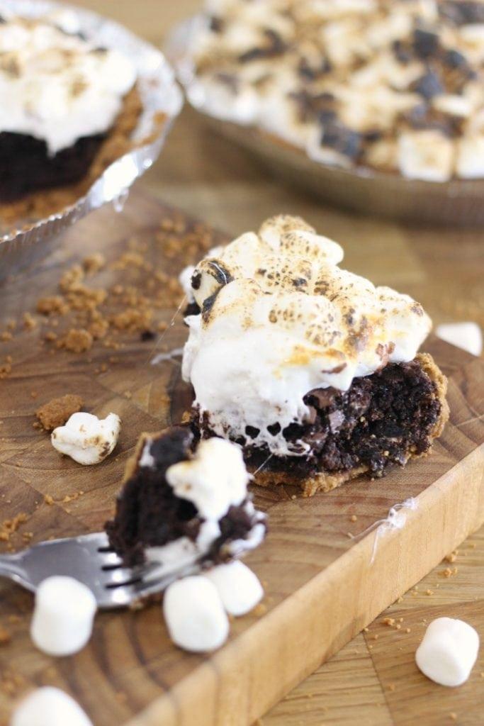 Brownie S'mores Pie Recipe